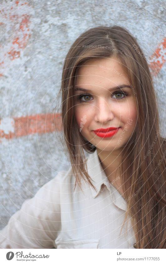Mensch Jugendliche schön Junge Frau Freude Gesicht Leben natürlich feminin Haare & Frisuren Lifestyle Zufriedenheit elegant Erfolg Haut ästhetisch