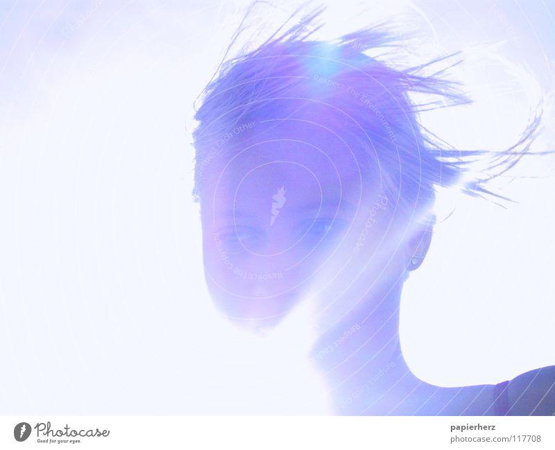 glow Himmel Sonne blau Sommer Freude Freiheit Glück hell