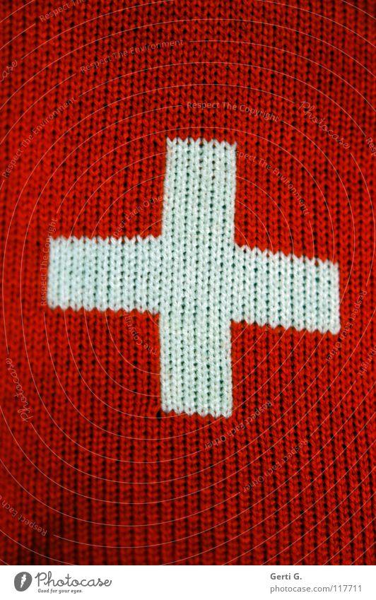 hier werden Sie geholfen... Seil Fahne Schweiz Zeichen Handwerk Symbole & Metaphern Nähgarn Rechteck Wolle stricken Handarbeit Wappen zweifarbig Nationalflagge