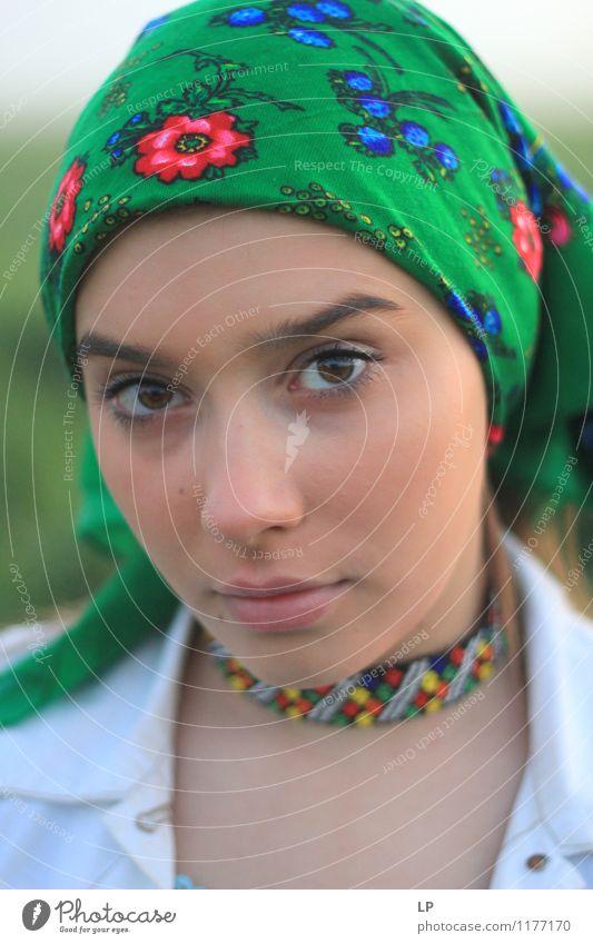 Mensch Jugendliche schön Junge Frau Erholung ruhig Gesicht Leben Gefühle feminin Stil Feste & Feiern Lifestyle Mode Zufriedenheit Design