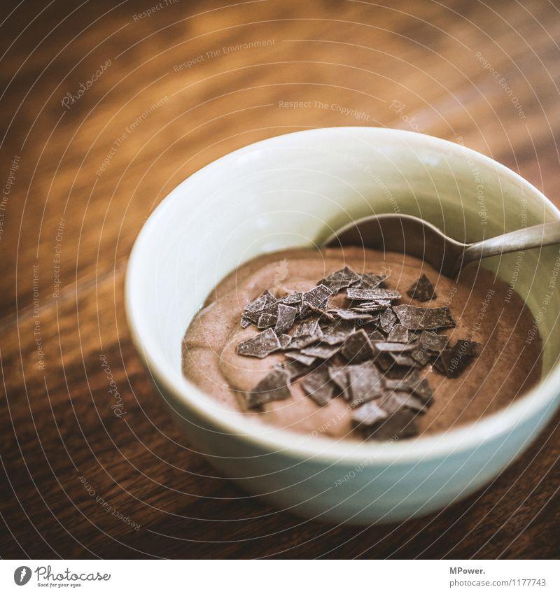 mousse de chocolate Lebensmittel Essen Kaffeetrinken Slowfood gut süß Schokolade lecker Dessert Schokoladenstreusel Farbfoto Innenaufnahme