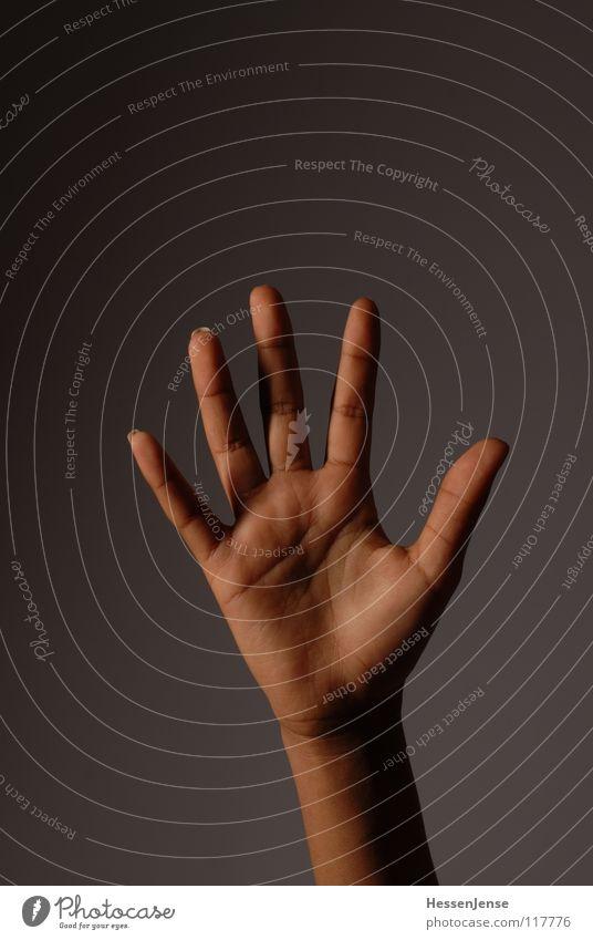 Hand 9 Finger Gefühle einheitlich widersetzen Rede Diskurs geben bedeuten Aktion Zusammensein Wachstum Götter Allah Hintergrundbild links Schmuck rechts