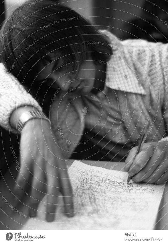 Vergiss mich bitte nicht... Jugendliche Liebe Einsamkeit Gefühle Haare & Frisuren Kopf Denken Instant-Messaging Brief Papier Trauer Vertrauen Wunsch schreiben