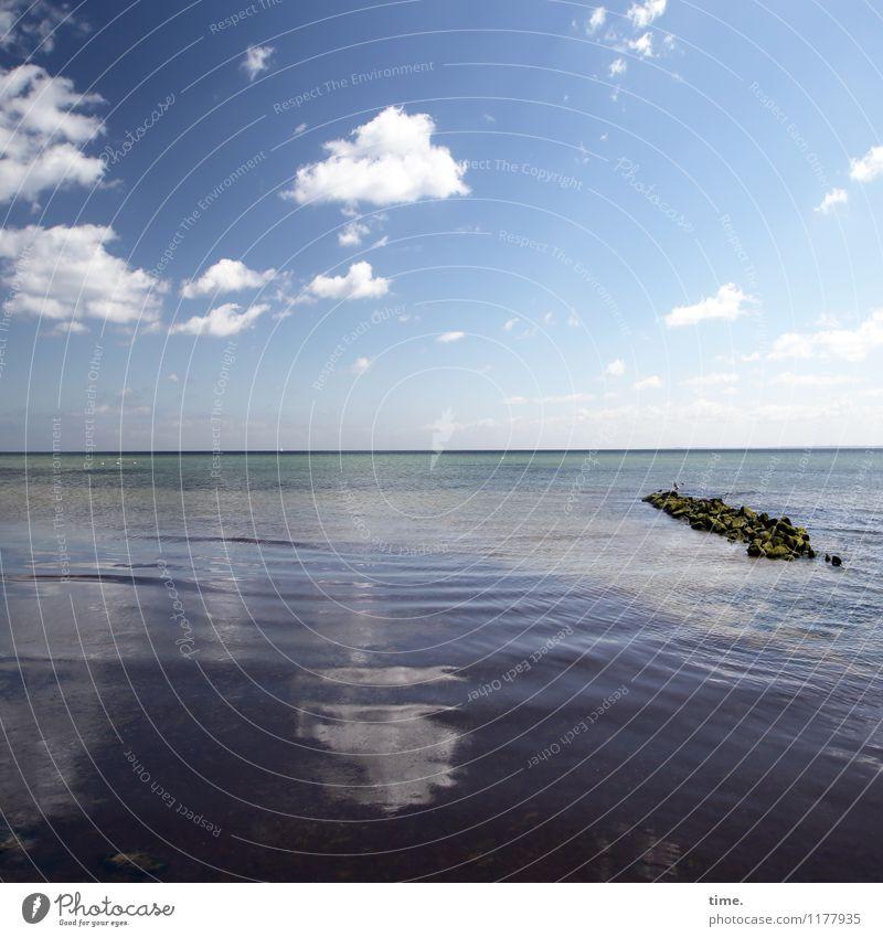 Meeresspiegel Himmel Natur schön Wasser Erholung Einsamkeit ruhig Wolken Ferne Leben Frühling Küste Zeit Stein Stimmung Horizont