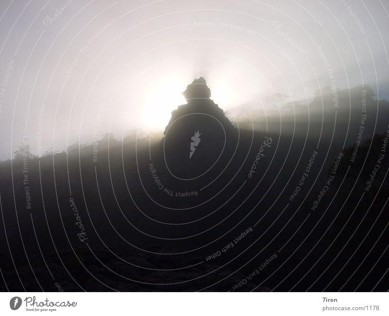 Nebel Australien Nationalpark Berge u. Gebirge Pinacle Grampions Felsen