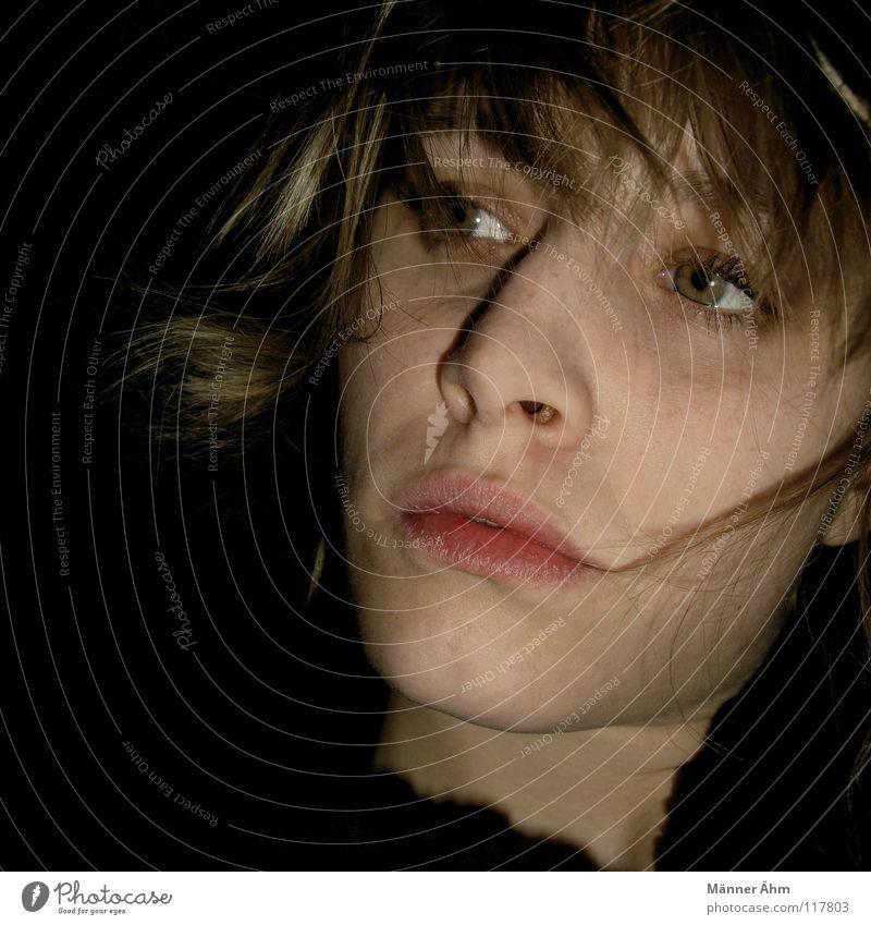 Groschenromantik. Frau blond rein schön immer oben Blick Gesicht Auge Mund Nase Haare & Frisuren Einsamkeit du wir für