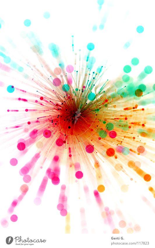 sprengen Freude Spielen klein Feste & Feiern hell rosa glänzend leuchten groß Dekoration & Verzierung Technik & Technologie rund Weltall Kunststoff Feuerwerk