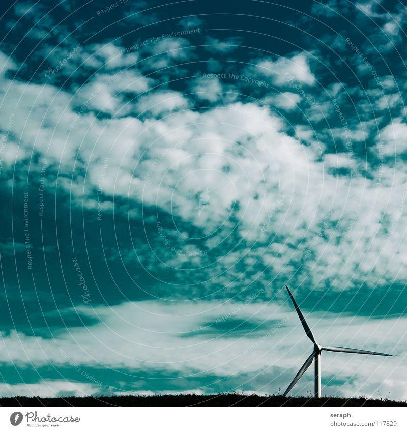 Wind Windkraftanlage Elektrizität Energie Energiewirtschaft umweltfreundlich Stromkreis Himmel Konstruktion Erneuerbare Energie ökologisch Umweltschutz modern