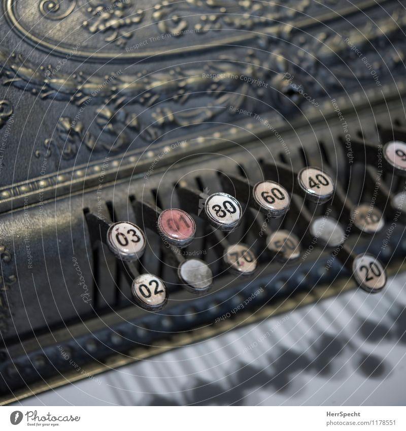 Digital Arbeitsplatz Handel Maschine Technik & Technologie Metall Ziffern & Zahlen alt historisch schön Ladengeschäft Kasse Tastatur bezahlen Verlässlichkeit