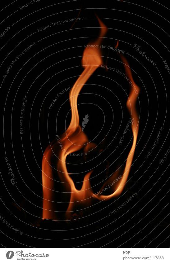 die Flamme Bewegung Wärme Kraft Brand Feuer Energiewirtschaft Romantik Teile u. Stücke Leidenschaft brennen Geborgenheit
