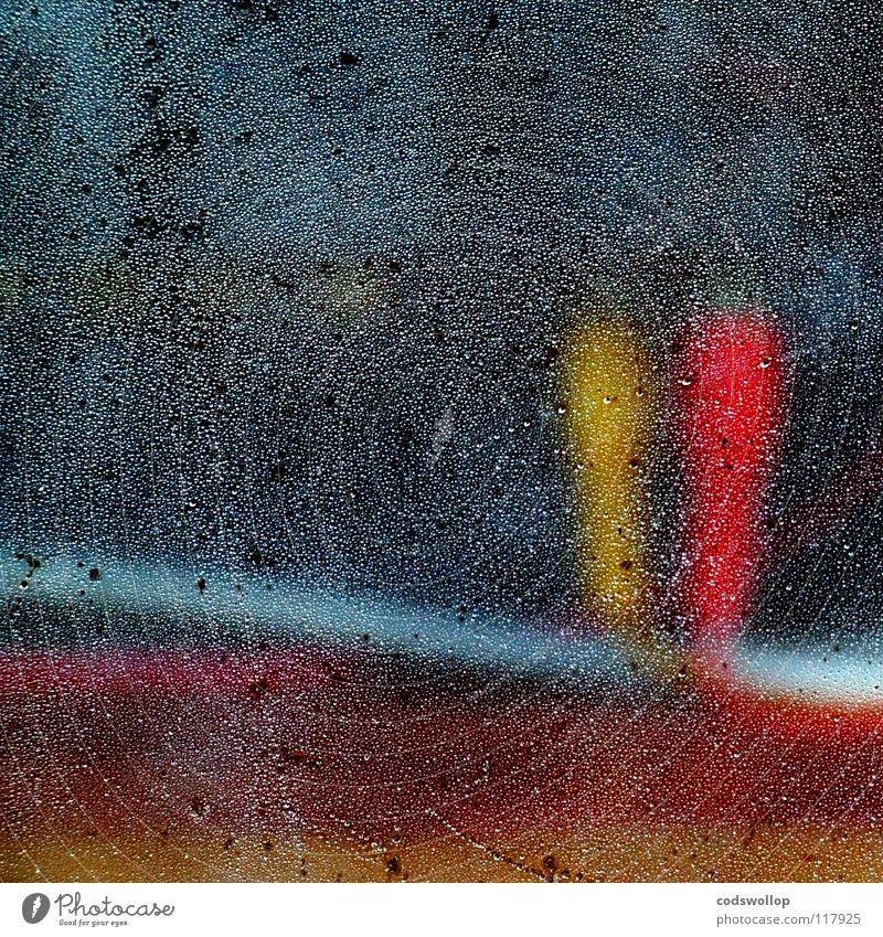 tweedle dee & tweedle dum rot gelb Fenster Kraft Elektrizität Technik & Technologie Kabel Fernsehen rein Verbindung Radio Leitung Abwasserkanal Zwilling Stecker