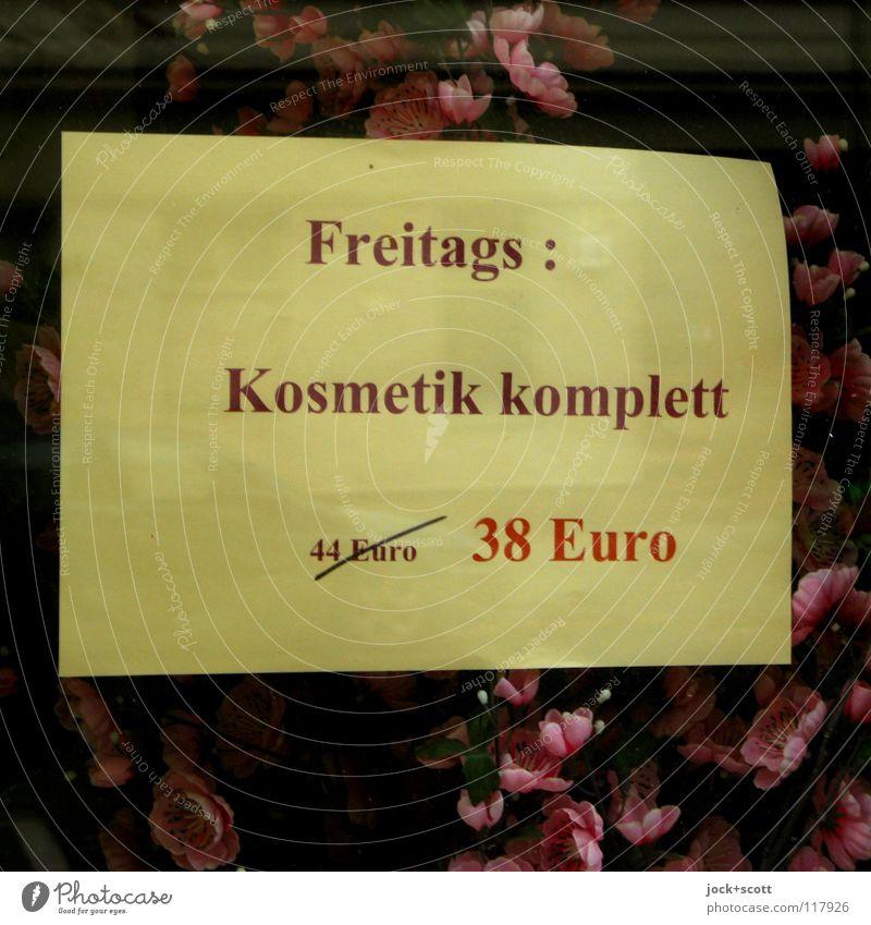 Freitag nach Eins mach ich meins, ein Angebot für Kosmetik Dienstleistungsgewerbe Blüte Zettel Glas Ziffern & Zahlen Wort Blühend Erholung Billig neu Stimmung