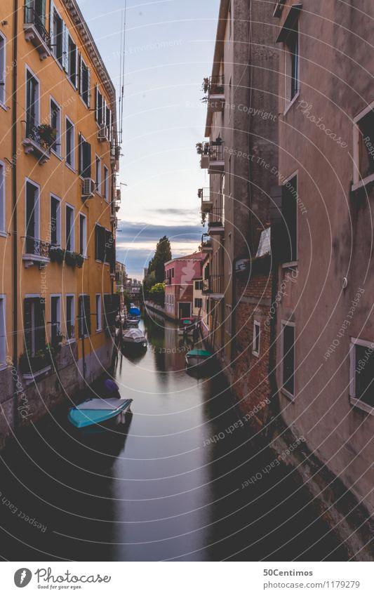 Stille und Ruhe in den Strassen von Venedig Reichtum Ferien & Urlaub & Reisen Tourismus Ausflug Ferne Sightseeing Städtereise Sommerurlaub Sonnenaufgang