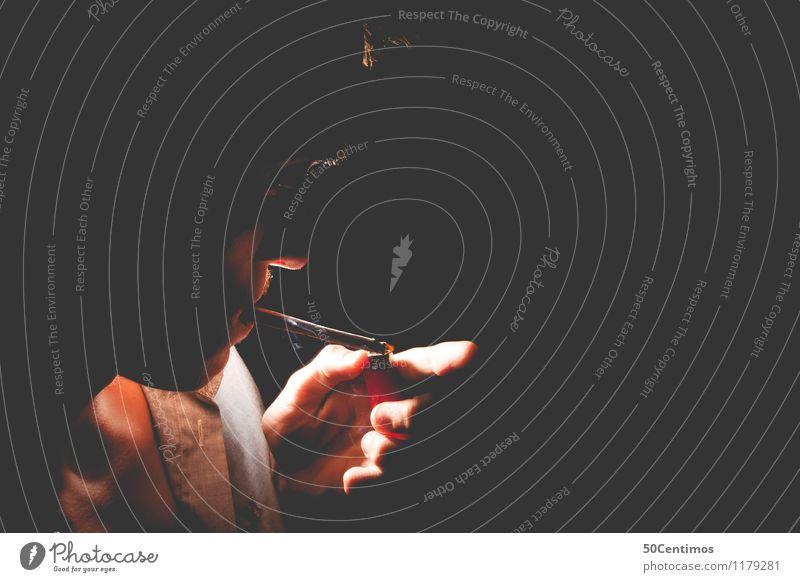 Rauchen Mensch Jugendliche Mann Hand Junger Mann 18-30 Jahre Erwachsene Traurigkeit Gesundheit Gesundheitswesen Kopf maskulin Pause Trauer Sehnsucht
