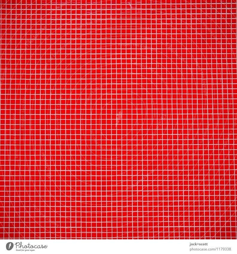 feines Hochrot Stil Kunsthandwerk Mauer Wand Dekoration & Verzierung Sammlung Fliesen u. Kacheln Stein Linie Quadrat eckig fest viele Kraft achtsam Wachsamkeit