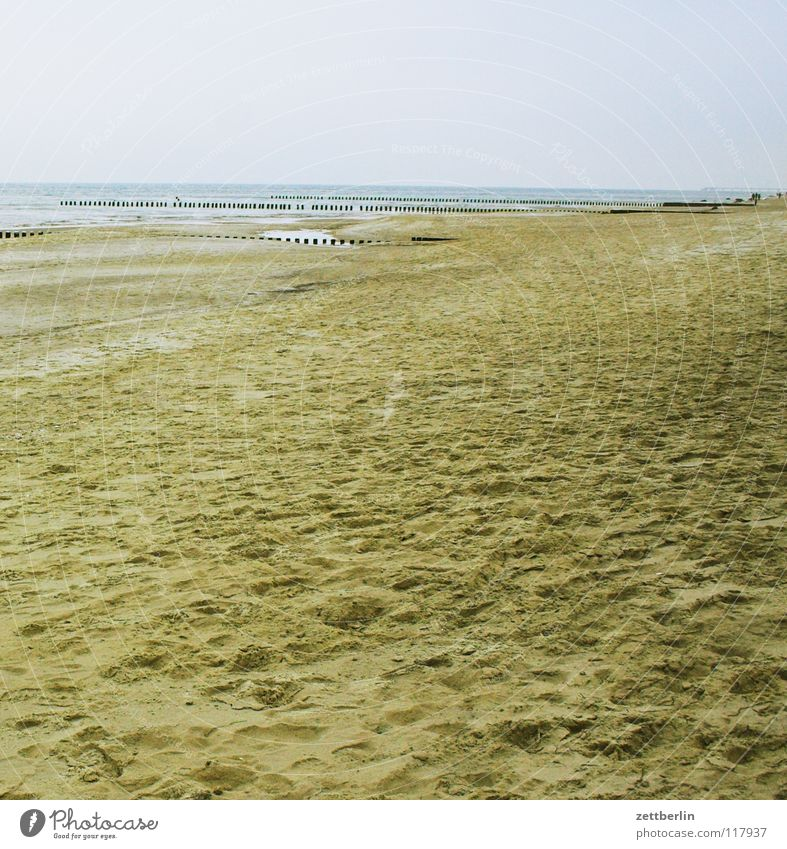 Bansin, Nebensaison Strand Sandstrand leer Menschenleer Saison Winter Herbst Horizont Ferne Fernweh Fernseher Weitsprung Wellen Meer Küste Spielen menschenscheu