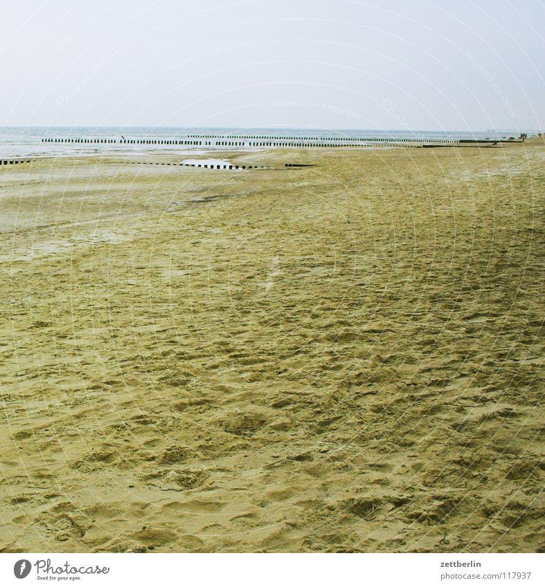 Bansin, Nebensaison Wasser Meer Winter Strand Ferne Herbst Spielen Sand Wellen Küste Horizont leer Fernseher Ostsee Fernweh Saison
