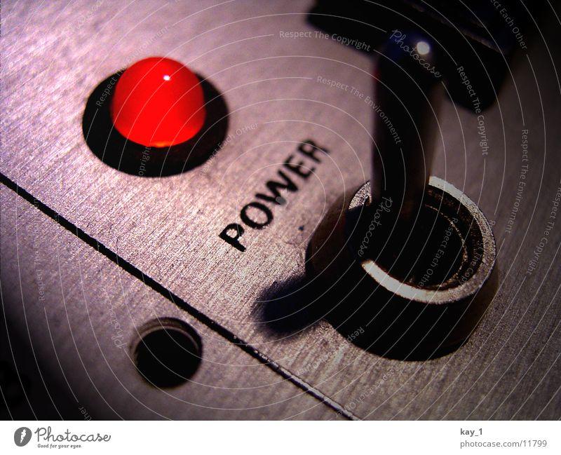 Ich bin On! Technik & Technologie Unterhaltungselektronik heiß retro stark rot Kraft Energie Schalter Leuchtdiode Werkstatt Elektrizität Gerät switch red