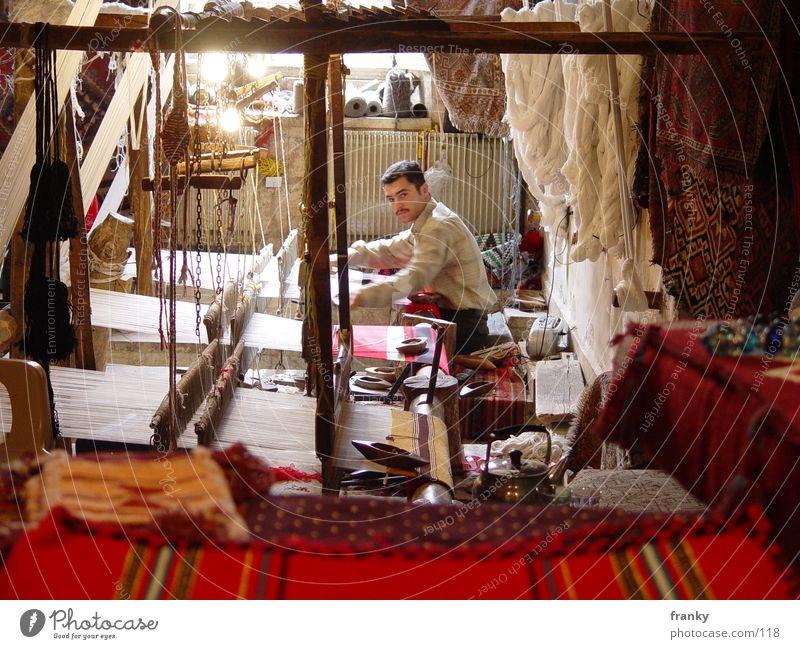 weber Handwerker Beruf Teppich Syrien Naher und Mittlerer Osten Asien Los Angeles Weber Aleppo Webstuhl