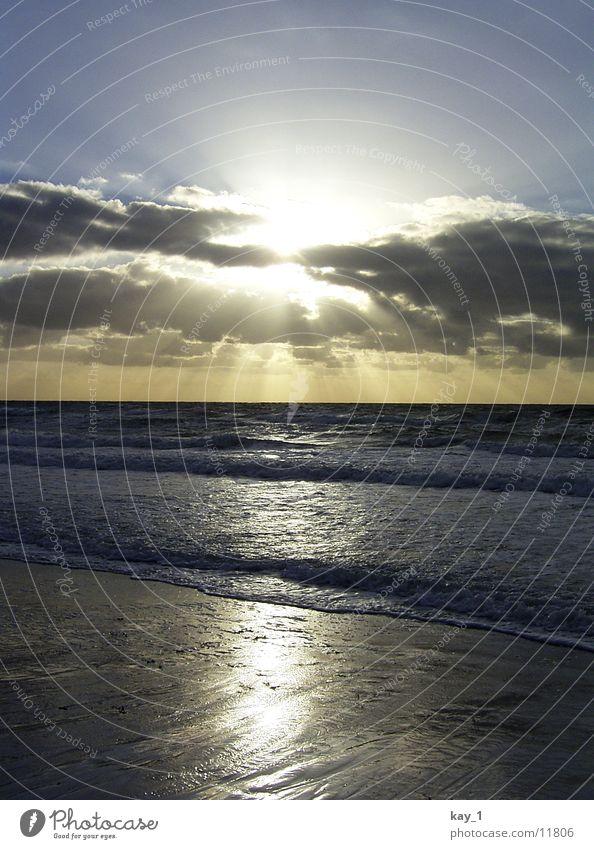 Mega-Sunset Wasser Sonne Meer Strand Wellen Ostsee Sonnenuntergang Hiddensee