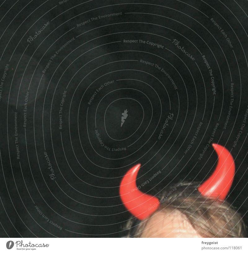 Highway to Hell Silvester u. Neujahr Party Teufel Nacht rot Brand verkleiden Kopfbedeckung Horn teufelshörner Abend Feste & Feiern hell Karneval Maske anni k.