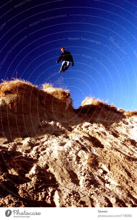 SandKasten springen Pol- Filter Strand Spielen Küste Blauer Himmel Bewegung