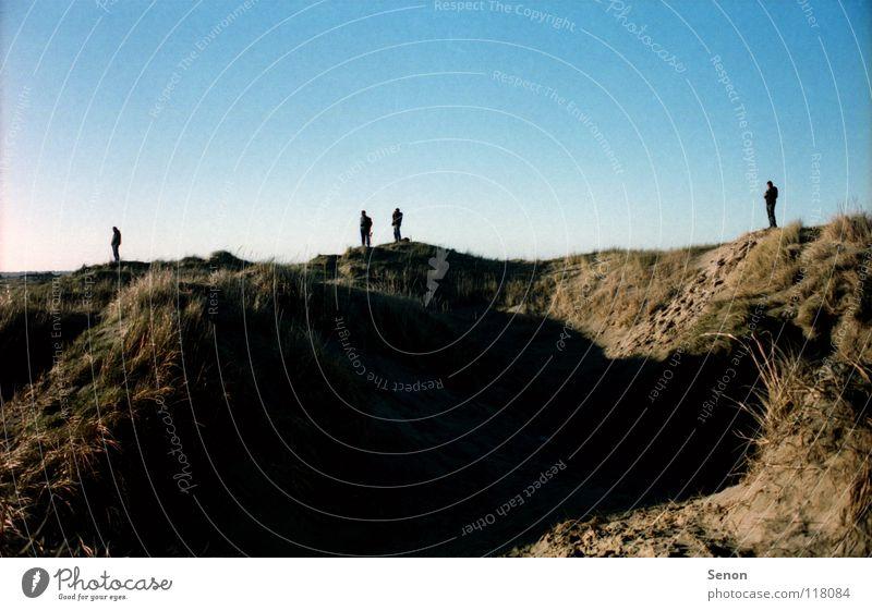 SandKasten IV Strand Küste Hügel Pol- Filter Landschaft Silhouette Landscape Dänemark