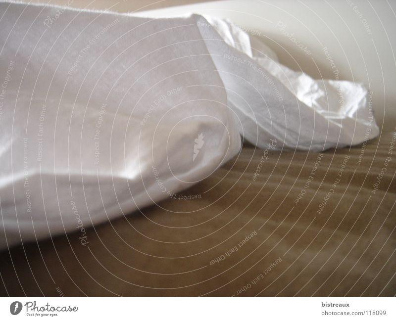 Bett braun weiß schlafen Haushalt Bettlaken Decke Baumwolle