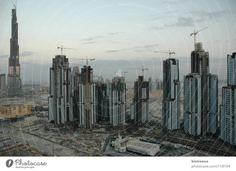 Burj Dubai 002 Sand Hochhaus Baustelle Wüste Kran Vereinigte Arabische Emirate