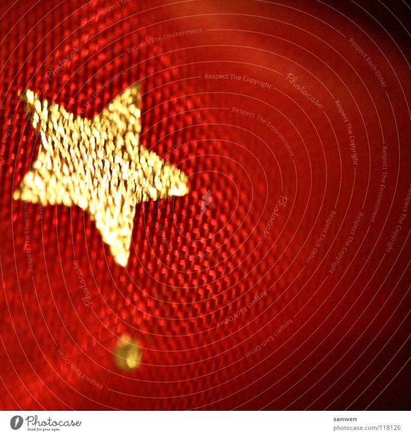 stjärna Weihnachten & Advent rot gold Stern (Symbol) nah Punkt niedlich Makroaufnahme Planet festlich Himmelskörper & Weltall Komet Asteroid