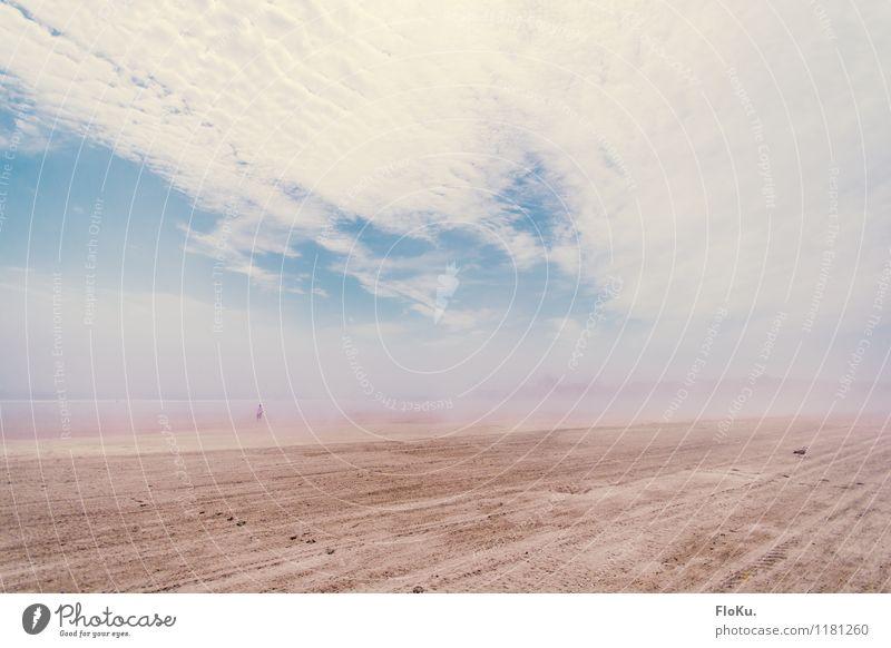 Nebel Am Strand Ferien & Urlaub & Reisen Tourismus Ausflug Sommerurlaub Umwelt Natur Sand Himmel Wolken Küste Meer Atlantik Stimmung Nebelschleier Nebelbank