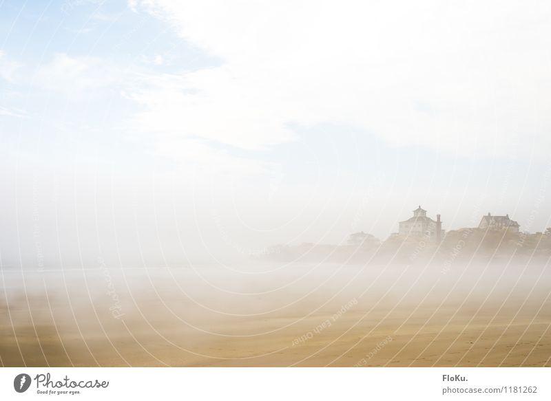 Was für eine Aussich... oh, da kommt der Nebel Ferien & Urlaub & Reisen Ausflug Umwelt Natur Landschaft Urelemente Sand Wasser Himmel Wolken Wetter Küste Strand
