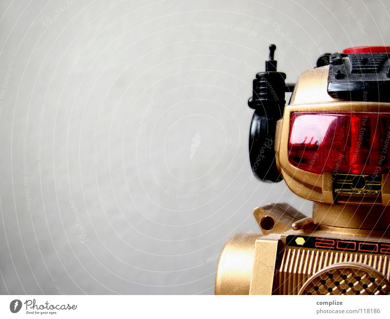 kiss the future* gold Zukunft Technik & Technologie Spielzeug Maschine elektronisch Anschnitt Bildausschnitt Elektronik Roboter Automat Elektrisches Gerät