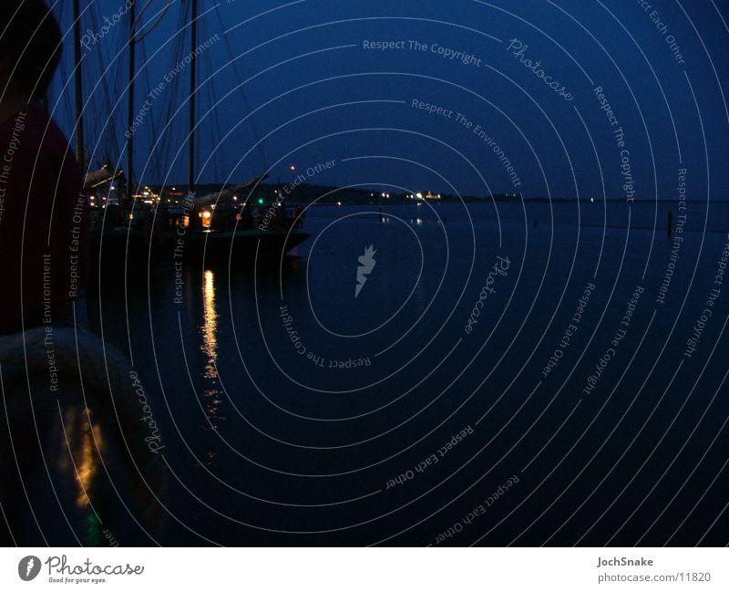 Wasser und Segelschiff bei Nacht Meer Segeln Wasserfahrzeug Niederlande Segeltörn Europa
