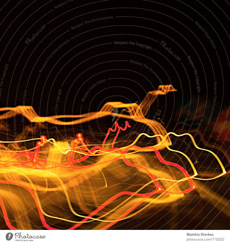 Autobahn Farbe rot Traurigkeit Beleuchtung Hintergrundbild Lampe Linie orange glänzend PKW Verkehr leuchten Erde hoch Geschwindigkeit Kreis