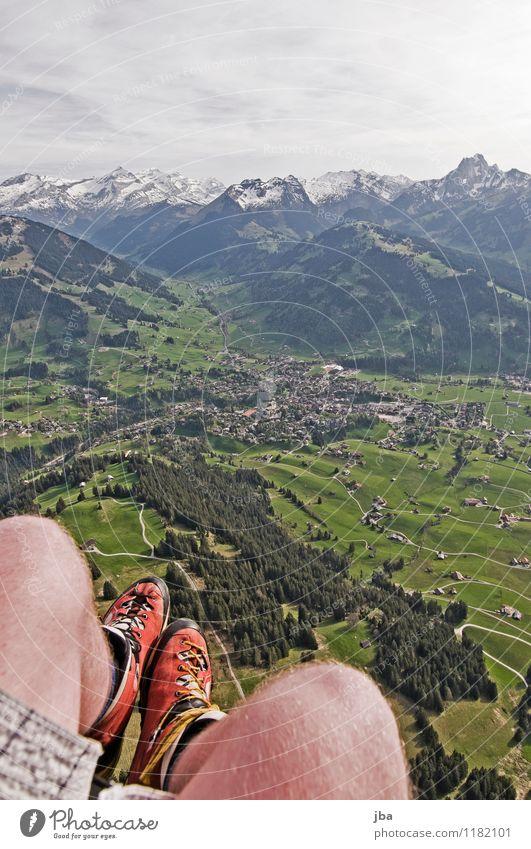Soaring am Hornberg 5 Lifestyle Zufriedenheit Erholung ruhig Freizeit & Hobby Freiheit Sommer Berge u. Gebirge Sport Gleitschirmfliegen Sportstätten Natur
