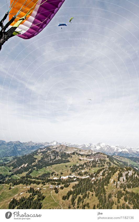 Soaring am Hornberg 9 Lifestyle Zufriedenheit Erholung ruhig Freizeit & Hobby Freiheit Sommer Berge u. Gebirge Sport Gleitschirmfliegen Sportstätten Natur