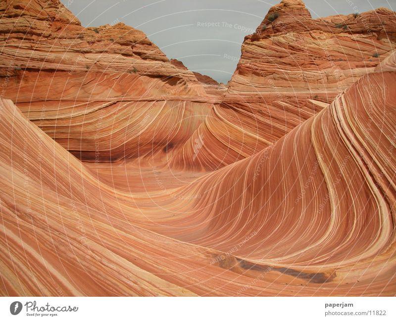 The Wave 4 Natur Stein Landschaft Felsen Erosion Nordamerika Coyote Buttes