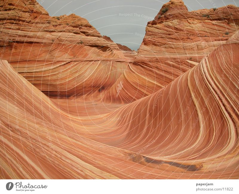 The Wave 4 Natur Stein Landschaft Felsen Erosion Nordamerika Coyote Buttes