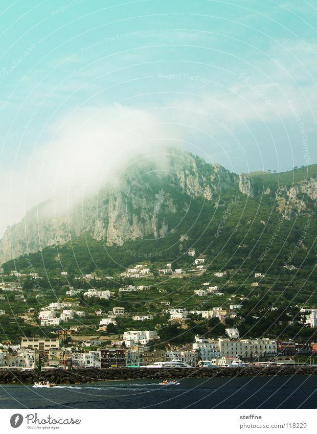 Tomate Mozzarella Meer Ferien & Urlaub & Reisen Süden Pazifik Tourist Hotel Wolken Gipfel Haus Sommer Physik heiß transpirieren Wasserfahrzeug Wellen Fernweh