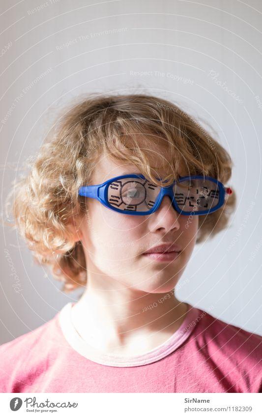 385 Mensch Kind Auge Junge Spielen Linie Kindheit blond Technik & Technologie Zukunft beobachten Kommunizieren Brille Jugendkultur Netzwerk 8-13 Jahre