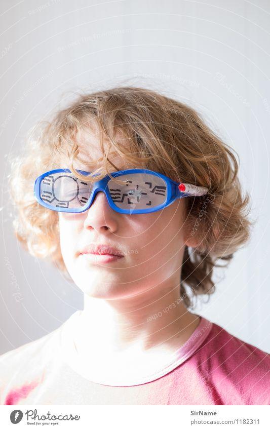 389 Mensch Kind Auge Junge Spielen Linie Kindheit blond Technik & Technologie Kreativität Zukunft einfach Kommunizieren niedlich Jugendkultur 8-13 Jahre