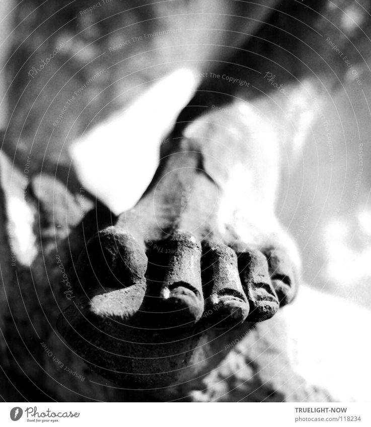 Leben im Stein alt nackt Leben Stein Kunst Fuß Kultur historisch Skulptur Kunstwerk Originalität Barock Bildhauerei intensiv geschmackvoll Kunsthandwerk