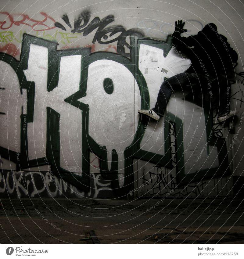 sekundenkleber Mensch Mann Hand Stadt Haus Graffiti Berge u. Gebirge Gefühle springen See Luft Lampe Fassade Freizeit & Hobby hoch frei