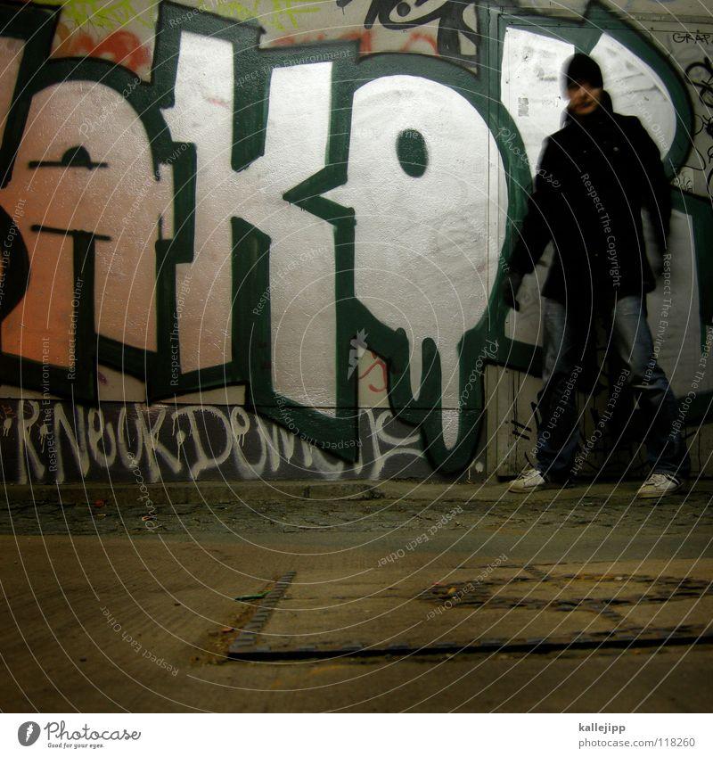 erwischt Mensch Mann Stadt Hand Haus Berge u. Gebirge Gefühle Graffiti See Lampe Fassade springen Luft Freizeit & Hobby frisch frei