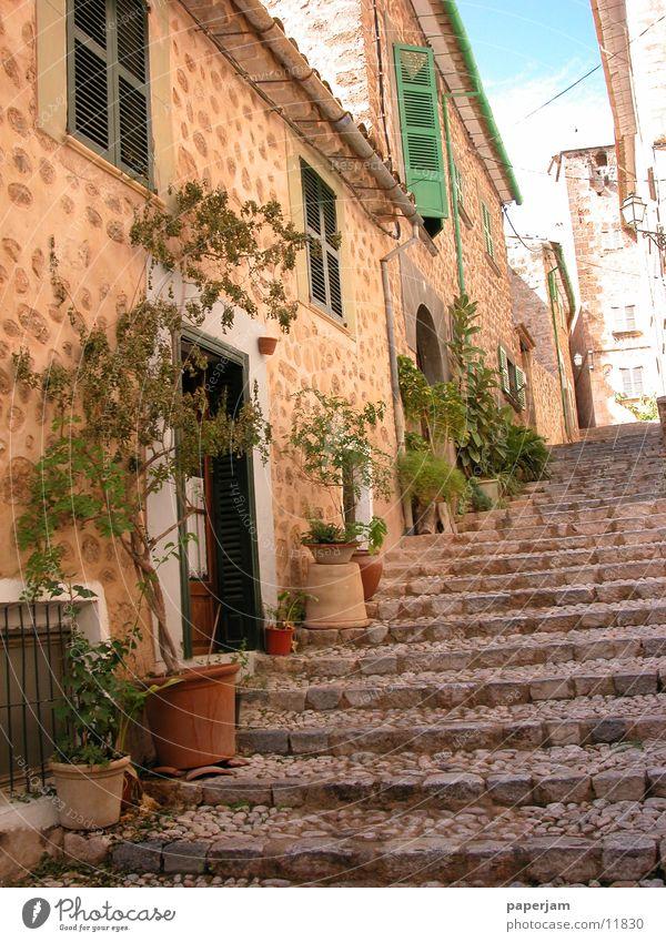 Treppe in Fornalutx alt Haus historisch Spanien Mallorca