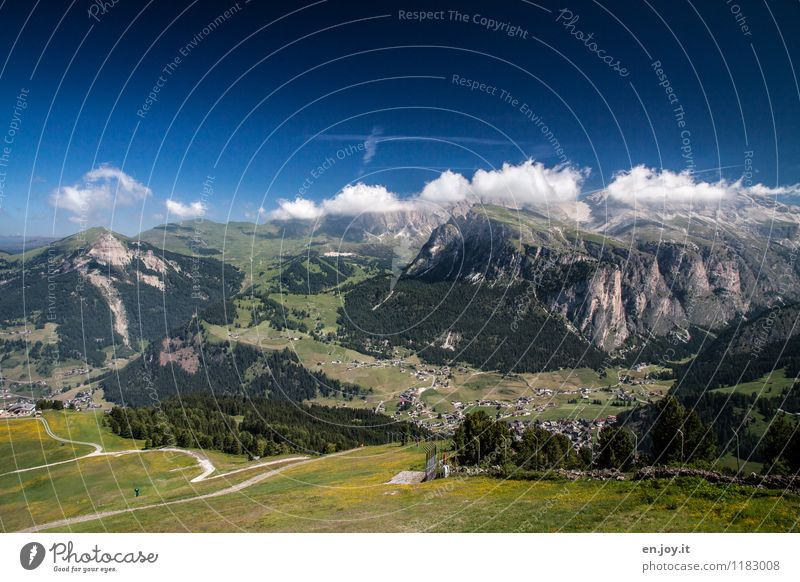 """""""Wolkenstein"""" Himmel Natur Ferien & Urlaub & Reisen Sommer Landschaft Ferne Berge u. Gebirge Wege & Pfade Freiheit Tourismus Freizeit & Hobby wandern Idylle"""