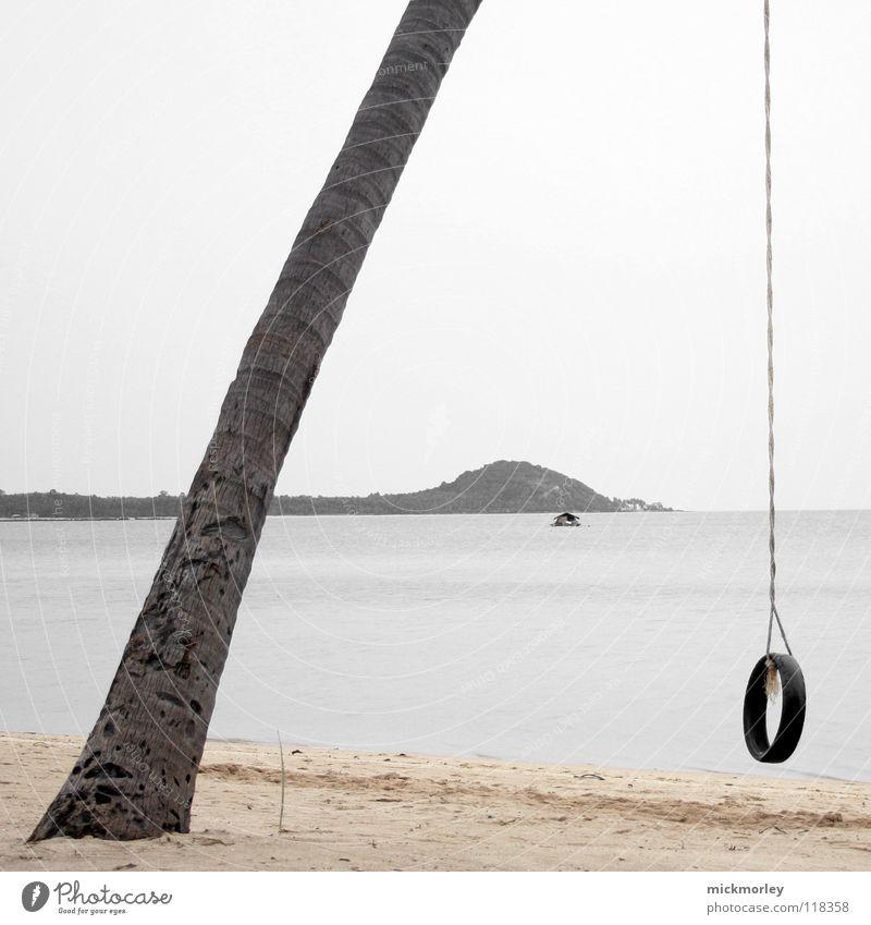 Palmenschaukel Thailand Strand Meer Haus Ferien & Urlaub & Reisen Gummi Baum Spielen Einsamkeit Asien Insel Seil Schnur holiday sea tree