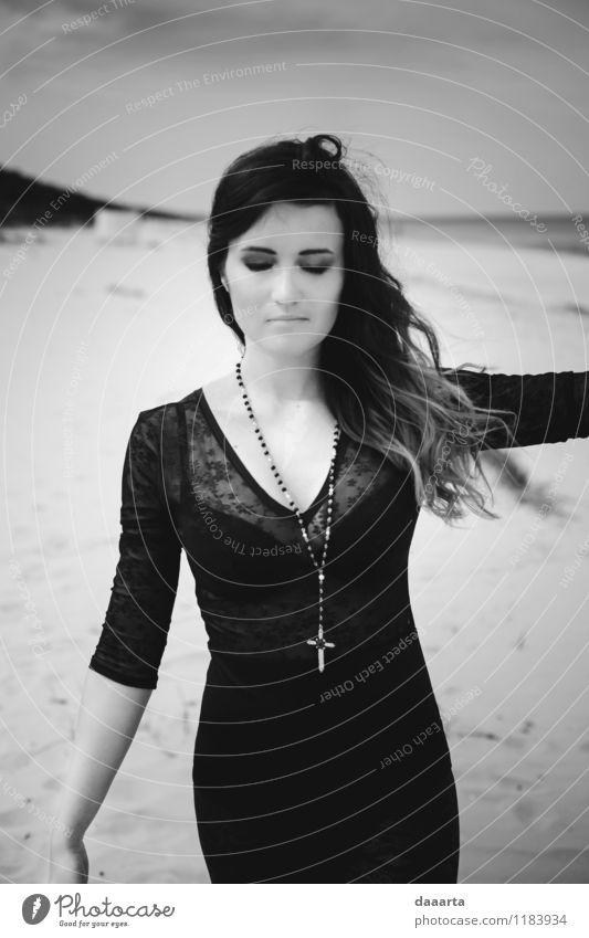 verträumte Linda elegant Stil Freude Schminke Leben harmonisch Sinnesorgane Erholung Freizeit & Hobby Ausflug Abenteuer Freiheit Sommer Sonne Strand Flirten