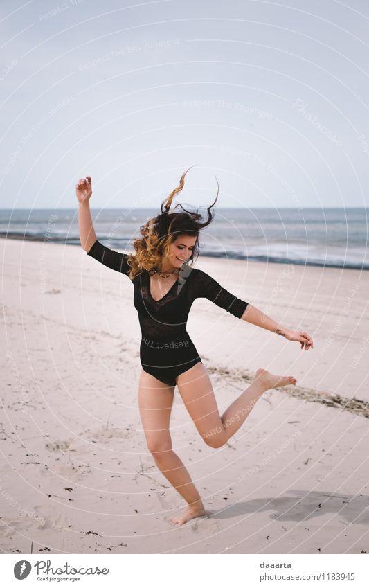 Teufel am Strand Sommer Sonne Meer Freude Leben Gefühle Spielen Haare & Frisuren Feste & Feiern Freiheit Lifestyle Stimmung Freizeit & Hobby Wellen Körper
